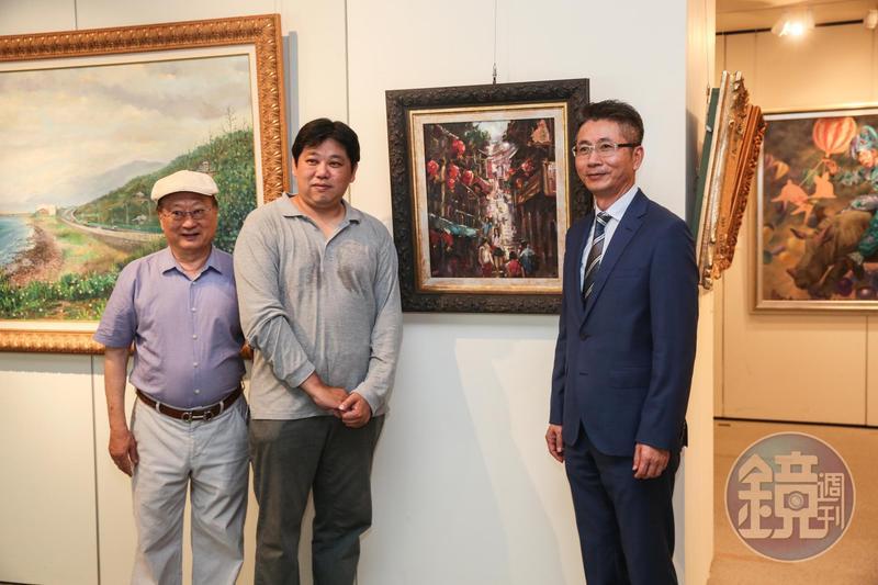縮時攝影相機品牌Brinno記錄國內西畫家鄭志德的最新油畫作品《浪漫九份》。