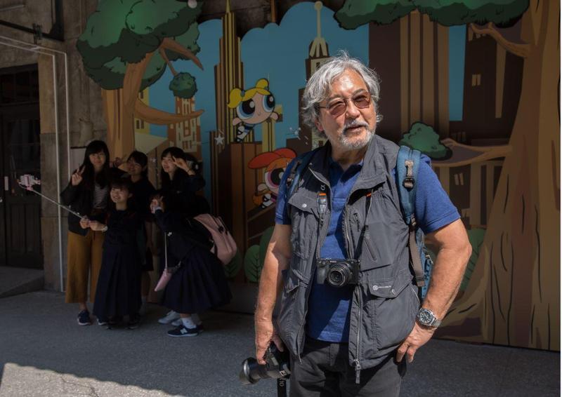 身為第三代日裔美籍的麥可山下,專精亞洲題材,他說在亞洲拍照,讓他覺得最自在。我們在華山專訪的當天,巧遇一群從日本來台的學生。