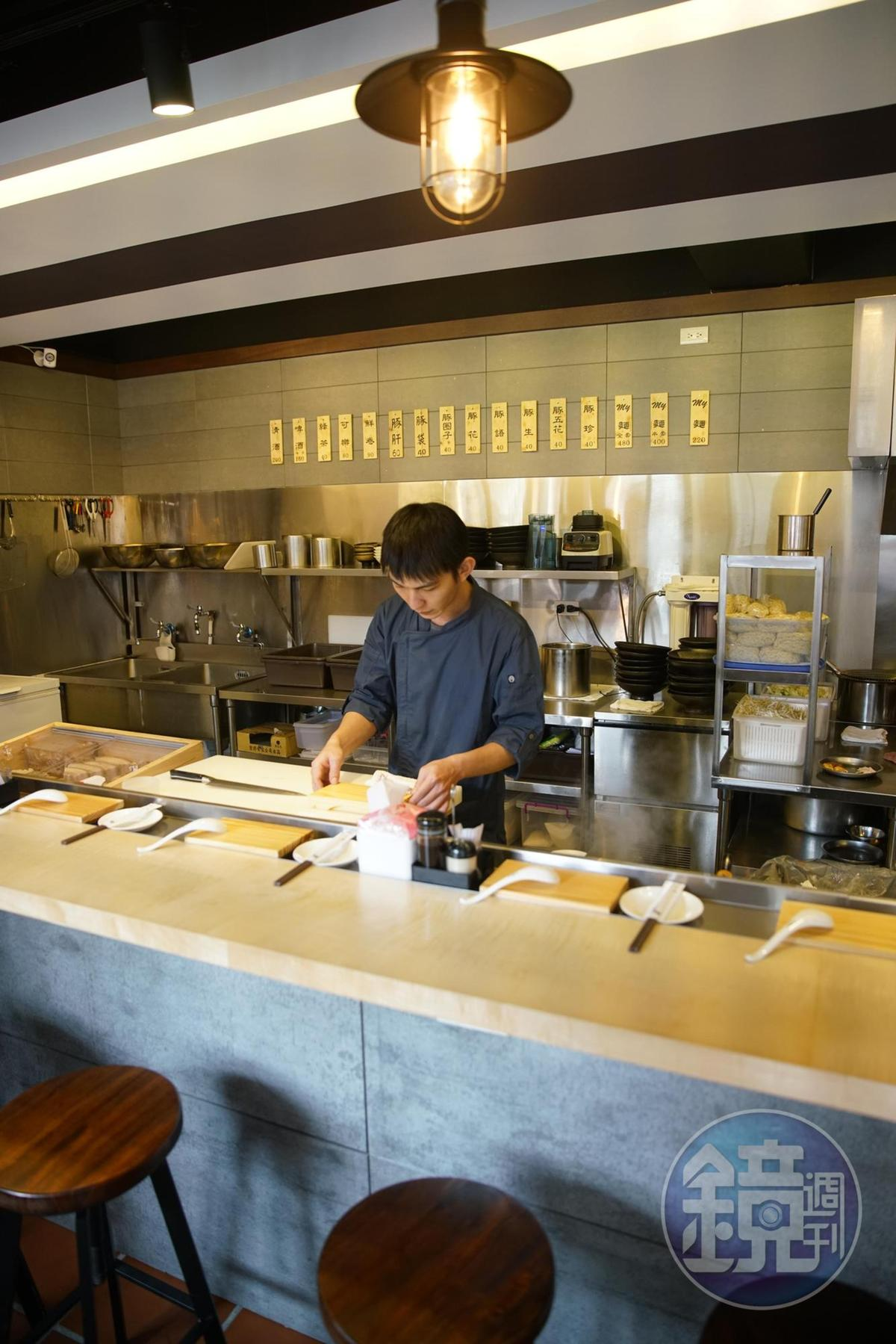 「My味」仿日本拉麵的環境,乾淨且舒適。