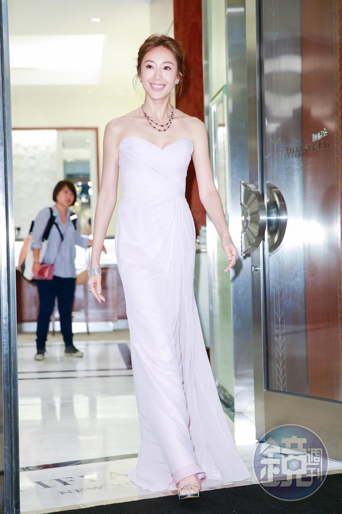 隋棠擔任Tiffany & Co. Vivid Dreams絢彩傳奇高級珠寶暨腕錶展記者會嘉賓。