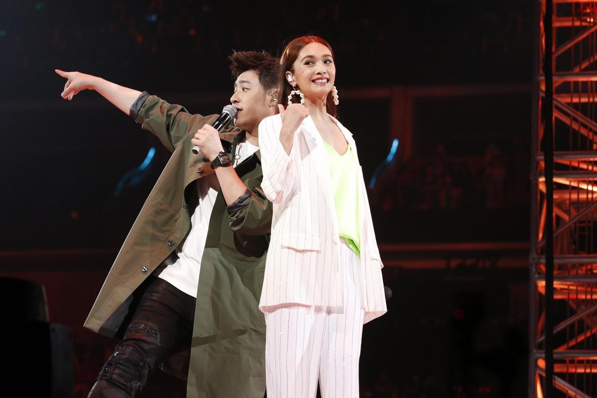 楊丞琳廣州演唱會邀來年好閨蜜潘瑋柏擔任嘉賓。(台灣太陽娛樂提供)