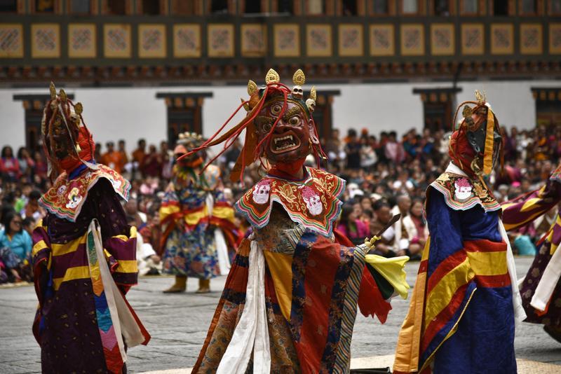不丹首都的宗教慶典。(東方IC)