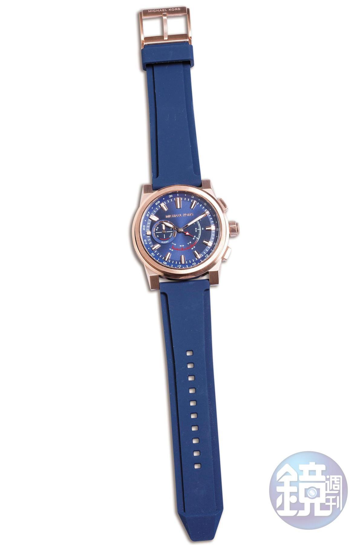 MICHAEL KORS藍色錶帶腕錶,NT$11,300。