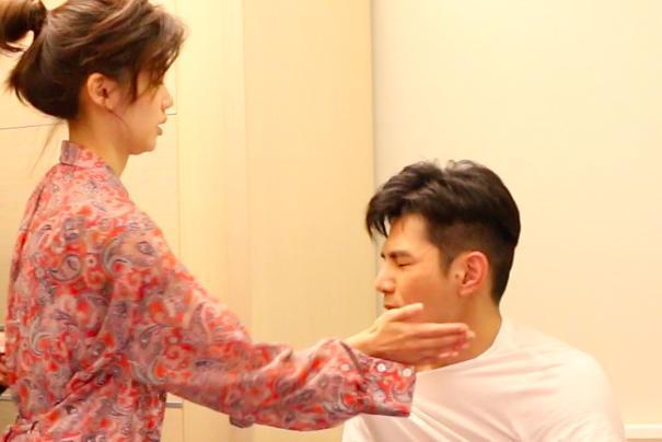 有一場講述宗念美得知男友祖雄劈腿而大吵後呼他巴掌。(CHOCO TV 提供)
