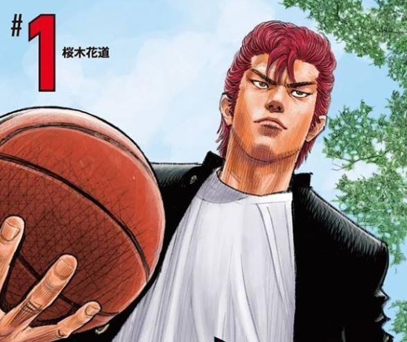 《灌籃高手》新版的櫻木超霸氣。(圖:翻攝自井上雄彥臉書)