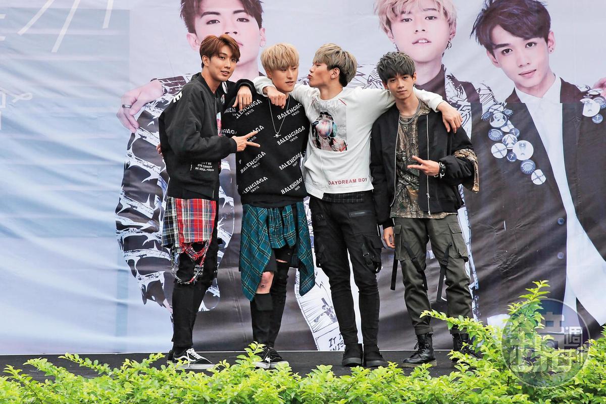 英承晞是男團A-Team成員,最近主力放在戲劇。左起為高興、英承晞、龔言脩、李宇平。