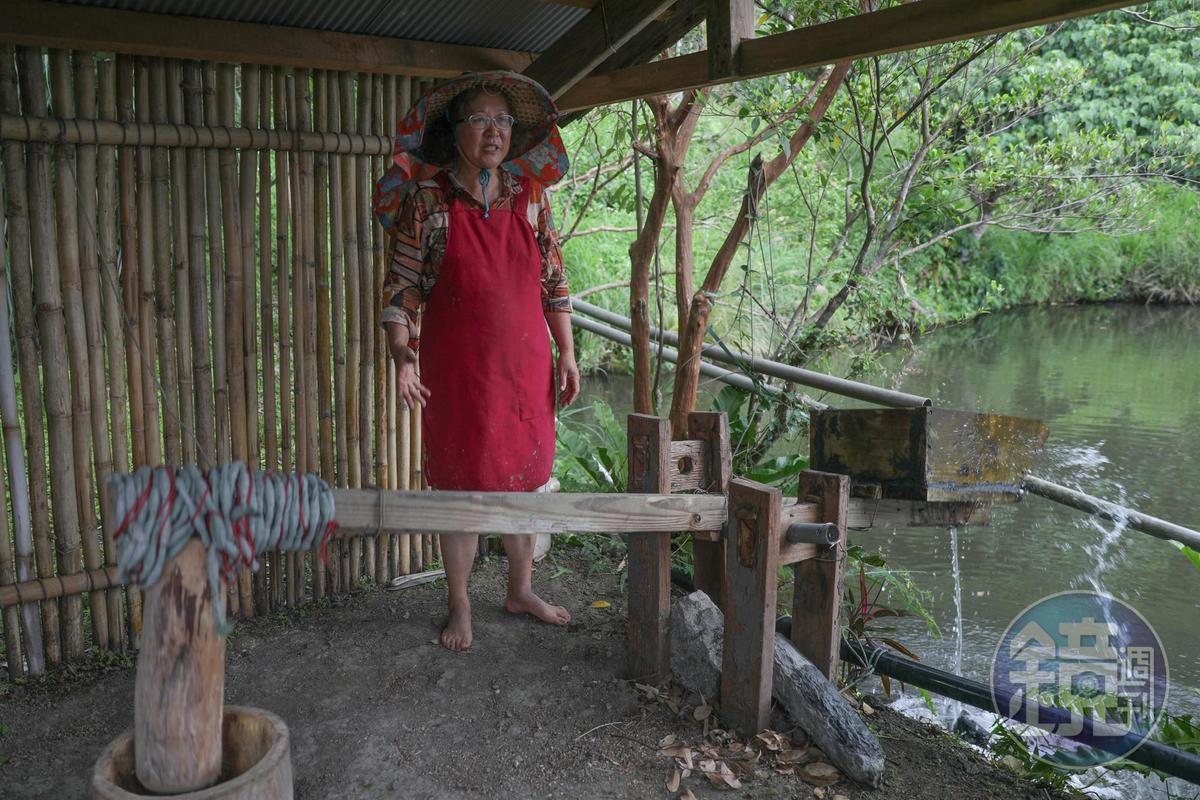 港口部落的部份水梯田仍保留現今少見的水力搗米裝置。