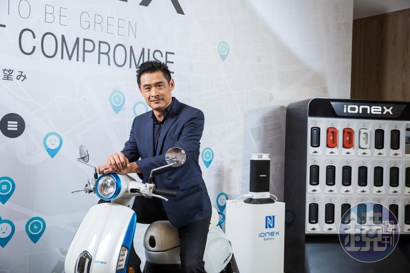 今年3月光陽前進東京,發表了自家的「Ionex 車能網」電動機車平台。圖為光陽董座柯勝峯。