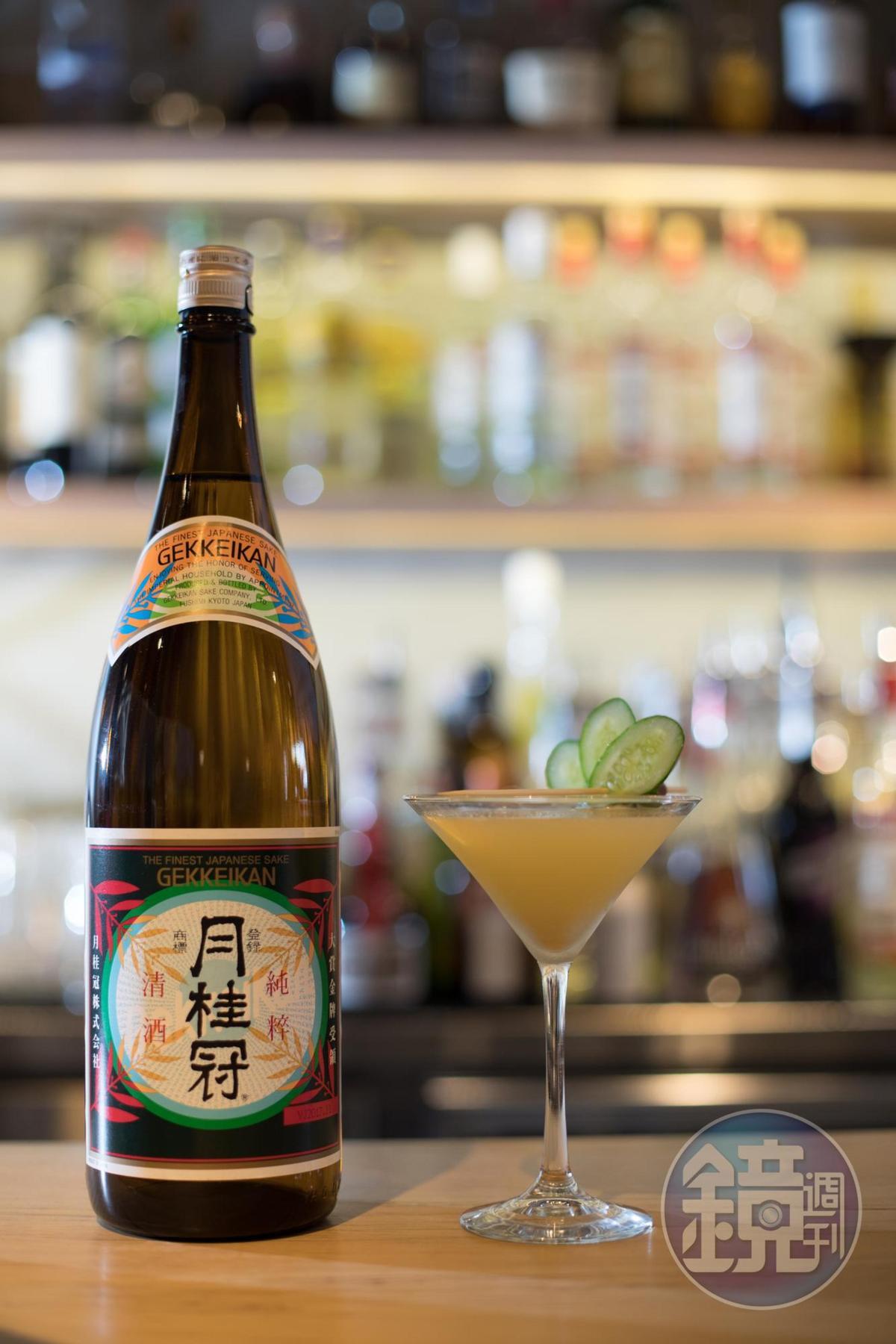 用日本清酒和芥末調成的「般若之吻」,入口先是鳳梨汁的甜香,接著會喝到芥末的辛嗆。(260元/杯)