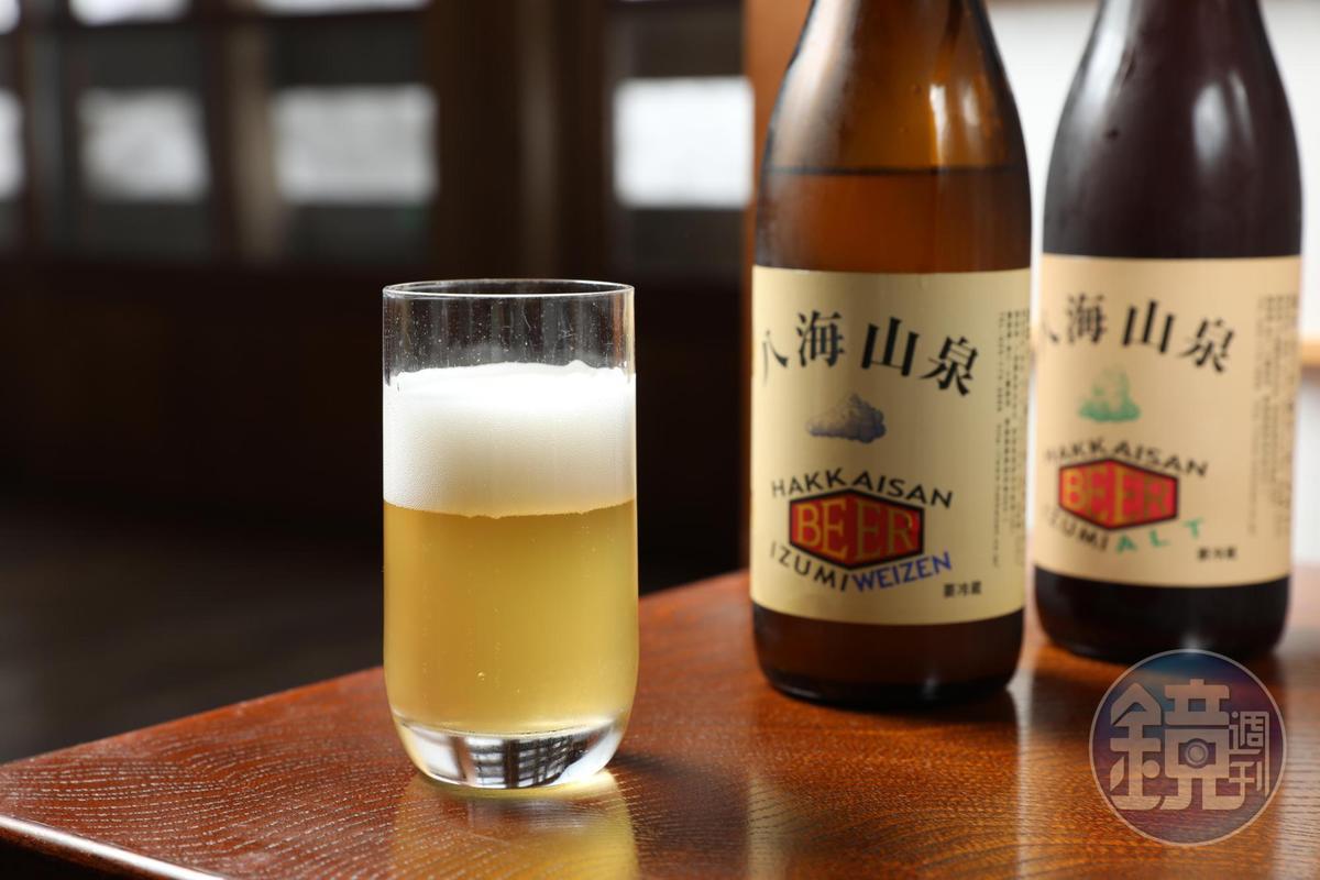 搭配蕎麥麵,可點八海釀造「泉」精釀啤酒(580日圓/瓶,約NT$157,台灣未上市)
