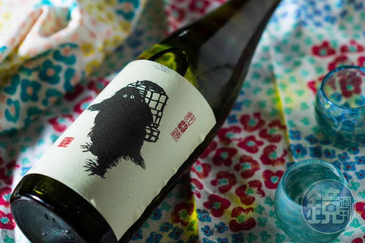 酒標可愛的「雪男」是充分展現酒米「美山錦」清爽特長的辛口純米酒。(1,730元/720ml)