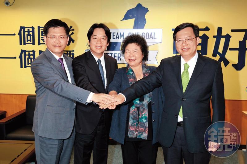 林佳龍、行政院長賴清德與桃園市長鄭文燦,都被認為是民進黨未來的接班梯隊。