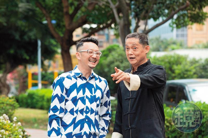 鄭平君(右)親叔叔罹患阿茲海默症過世,他主演《阿公》詮釋病患角色更動人,而塔羅牌老師王奇(左)也有長輩患病,會當導演拍片,是希望給患者和他們的家人鼓勵。