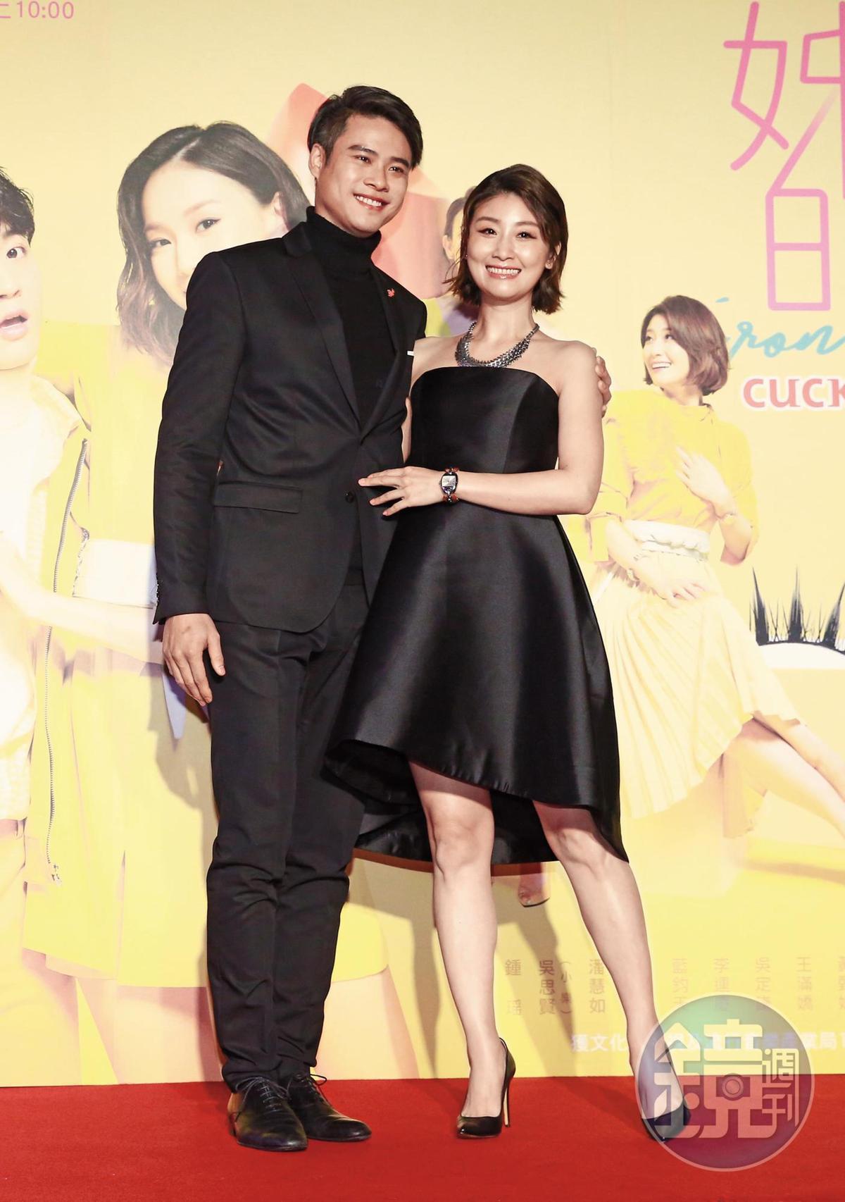 吳定謙2016年爆過劈腿醜聞,他和朱芷瑩(右)合作《姐的時代》戲裡也飾演找小三的渣男,戲裡戲外互相輝映,也可能起療癒作用。