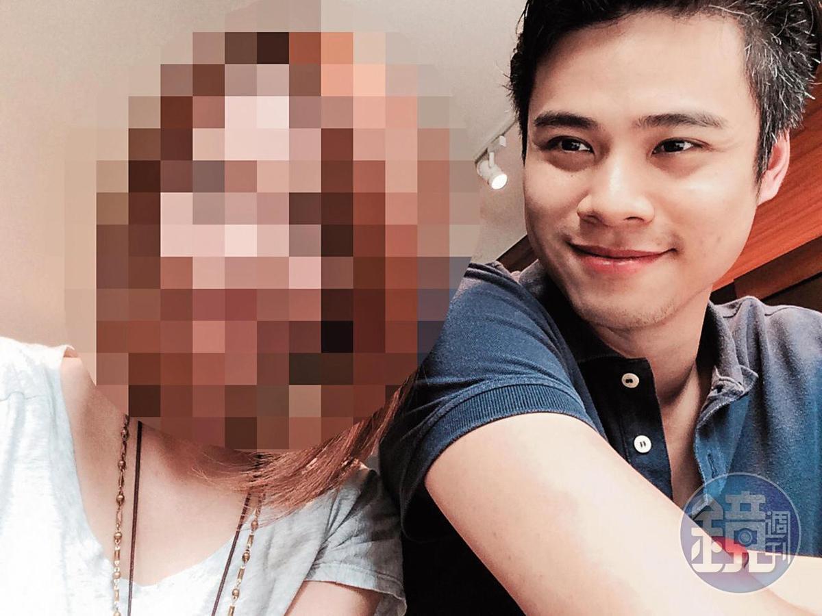 吳定謙(右)有著迷人笑容,他2016年劈腿兩女,其中的小乖不甘感情被玩弄,憤而向本刊爆料他的卑劣行為。