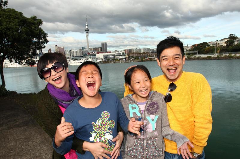 離開主播工作,攜家帶眷飛往紐西蘭長住一年的日子,岑永康一家人至今難忘。(岑永康提供)