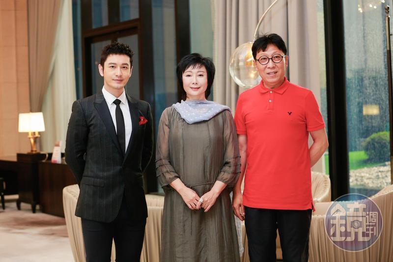 黃曉明(左起)、鄭錚、韓童為第10屆兩岸電影展抵台訪問。