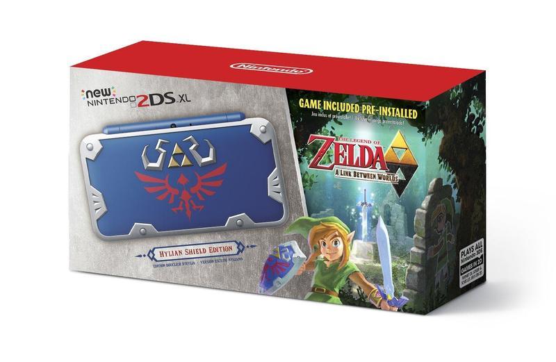經典的海利亞盾將與2DS XL主機結合。(圖片來源:Nintendo of America)