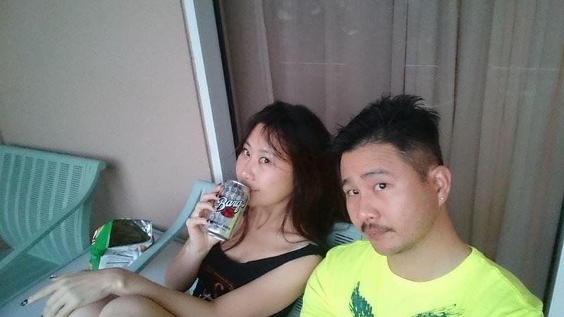 安晨妤讓老公張劭緯綠雲罩頂,但她努力粉飾太平。(翻攝張劭緯臉書)