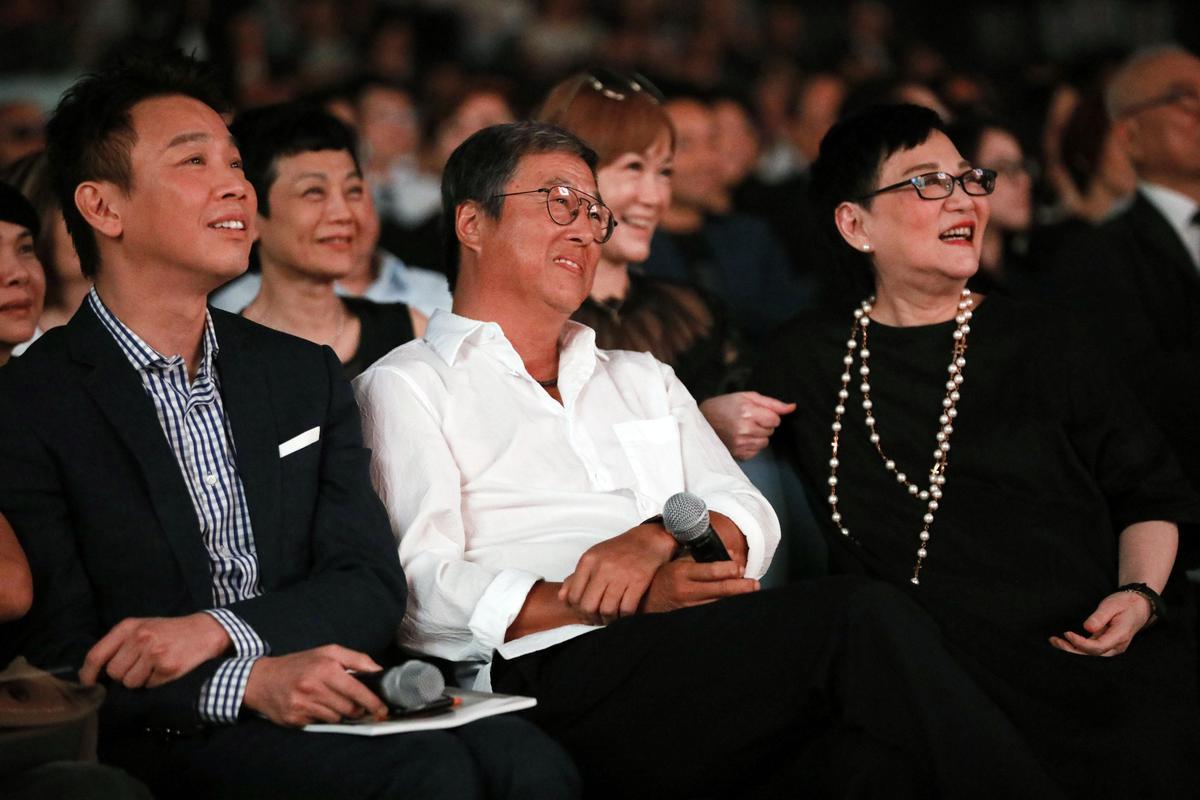 陶喆、王偉忠和張小燕齊坐台下,懷念和孫越過往。(董氏基金會提供)