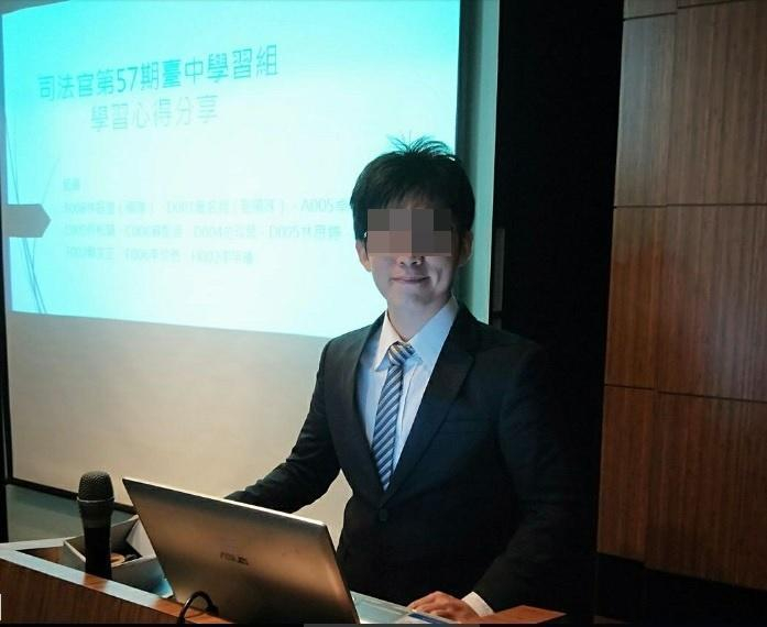 一位自稱正在接受司法官訓練的網友,回覆PTT徵友文。(取自網路)