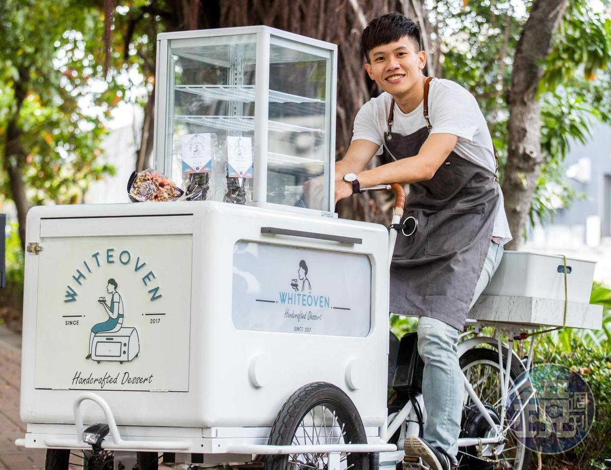 笑容開朗的「White Oven -白色烤箱」阿龐,以前曾是嚴肅的小學老師。