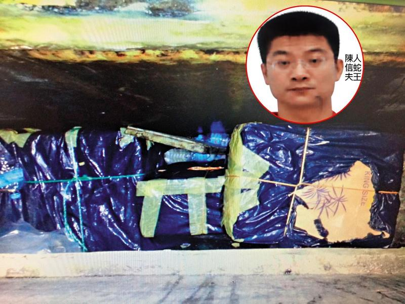 屏東東港私梟集團一員的陳嫌,2013年曾因2度走私香菸遭海巡署查獲。(翻攝畫面)