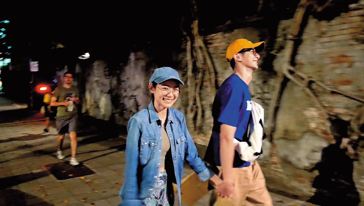 「禎睿戀」華山野戰,張軒睿的前女友也跑去華山玩得開心。