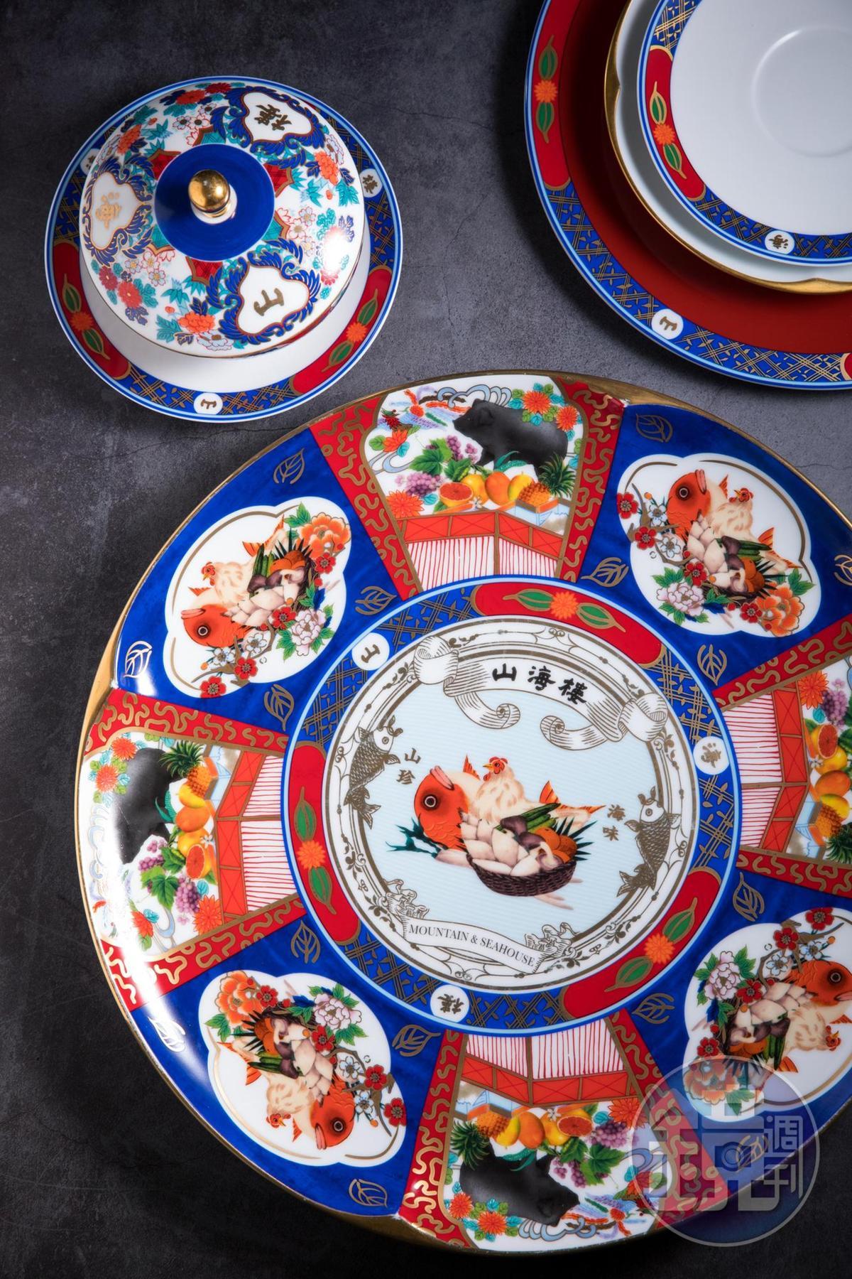 法國瓷器品牌LEGLE量身打造的餐具,讓料理更添精緻奢華感。