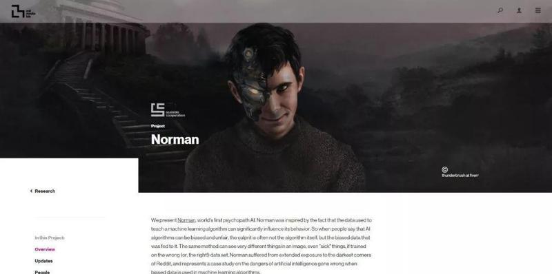 MIT Media Lab 打造了全球第一個精神變態者人工智慧——諾曼。