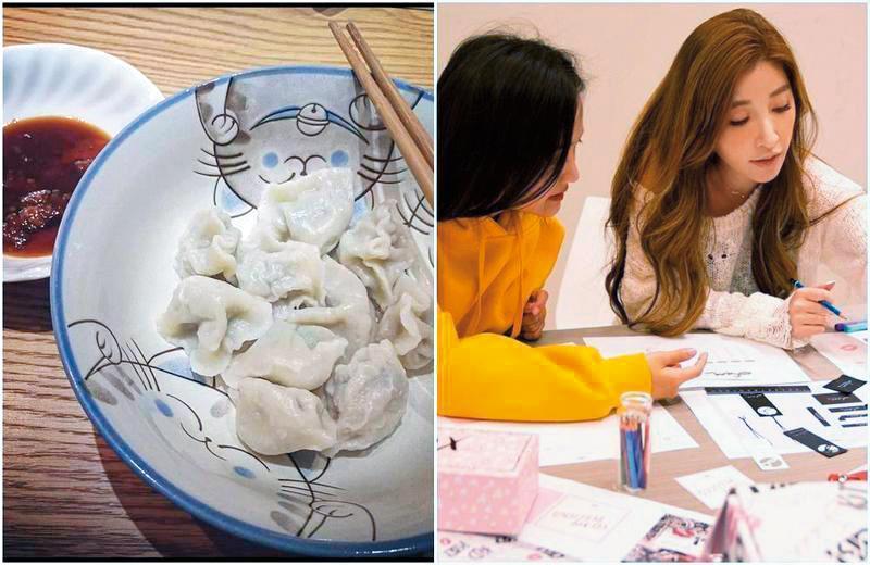 呂銳推出的白色情人節晚餐照片,晚餐內容是許維恩的拿手菜,而桌上的花紋則跟許維恩之前貼出的桌子照片花紋雷同(圖)。(翻攝自許維恩臉書)
