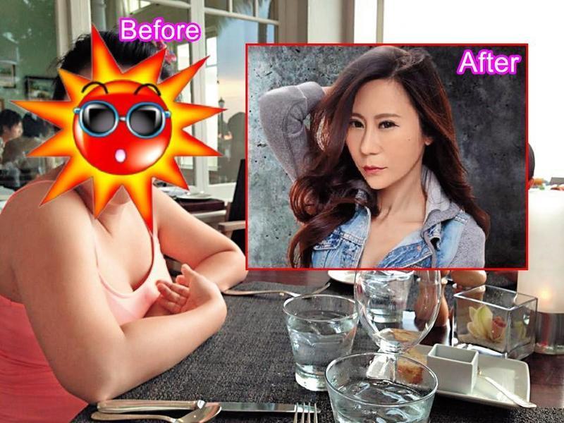 安晨妤5年前身形圓潤(左),臉也不似如今的瓜子臉(右圖),因此被懷疑為發片作了削骨手術。(翻攝自張邵緯臉書)