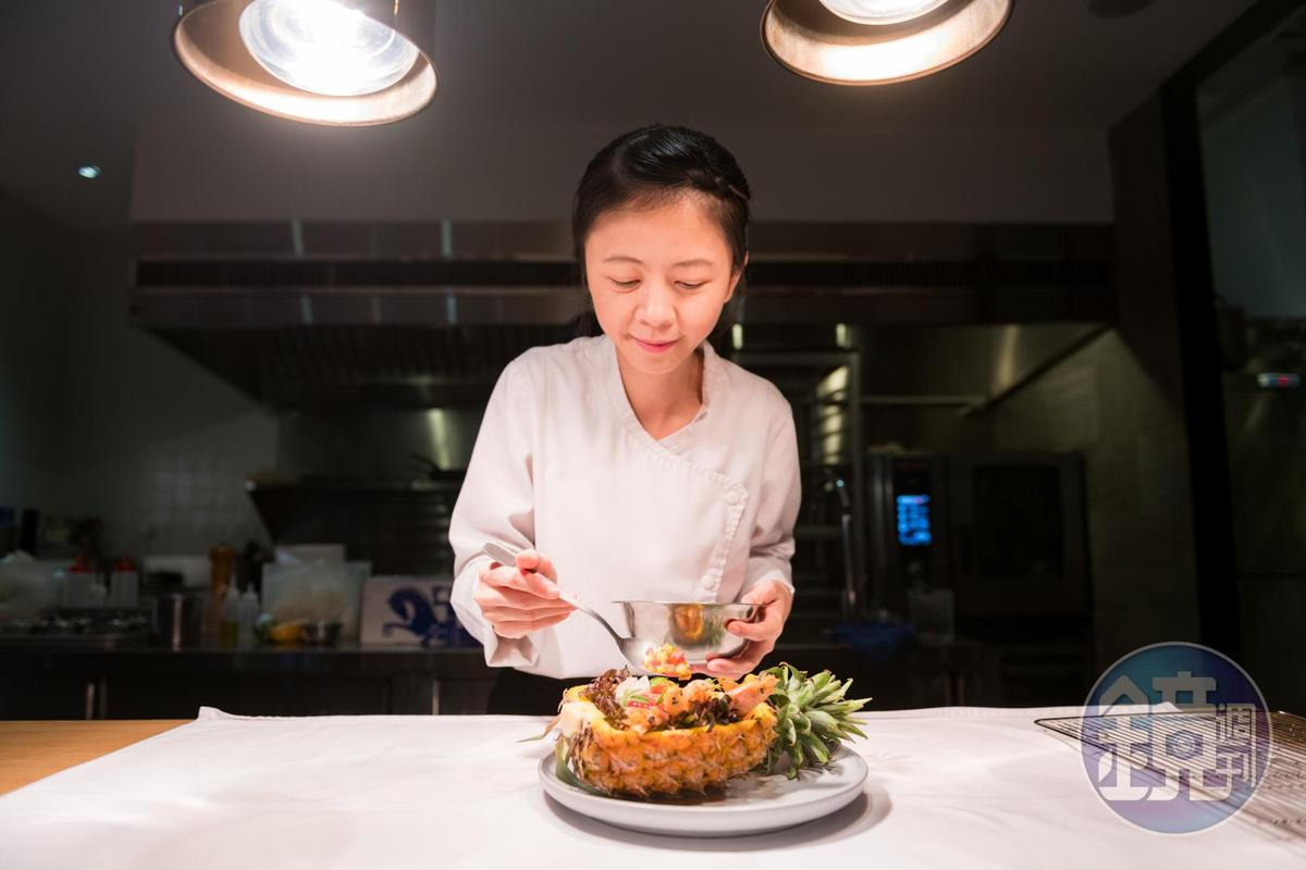 「187 BDSG」主廚黃詩文(Vanessa)的料理雜揉台法文化,每道料理都有想法。