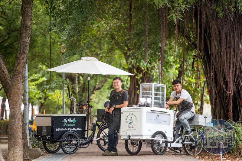 面對台灣服務業的低薪環境,讓愈來愈多年輕人嘗試以餐車創業圓夢。