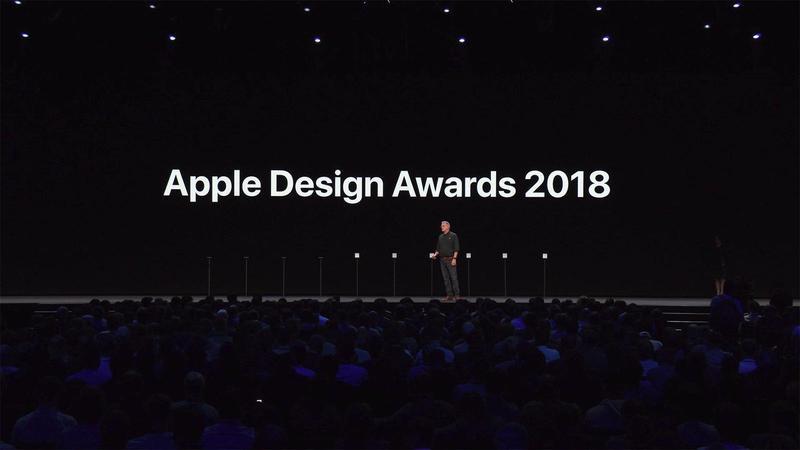 與WWDC 2018同一天,蘋果也公布了今年蘋果設計獎得主。(翻攝自WWDC 2018)