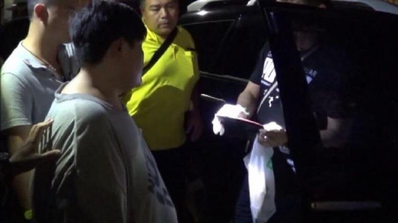 破百公斤車手在竹南鎮中正路落網。(警方提供)