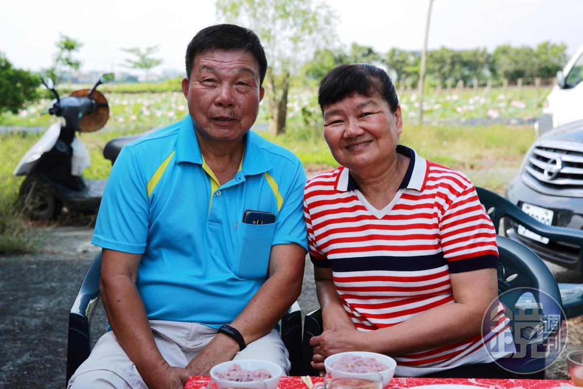 柚香園民宿主人賴姓夫婦。