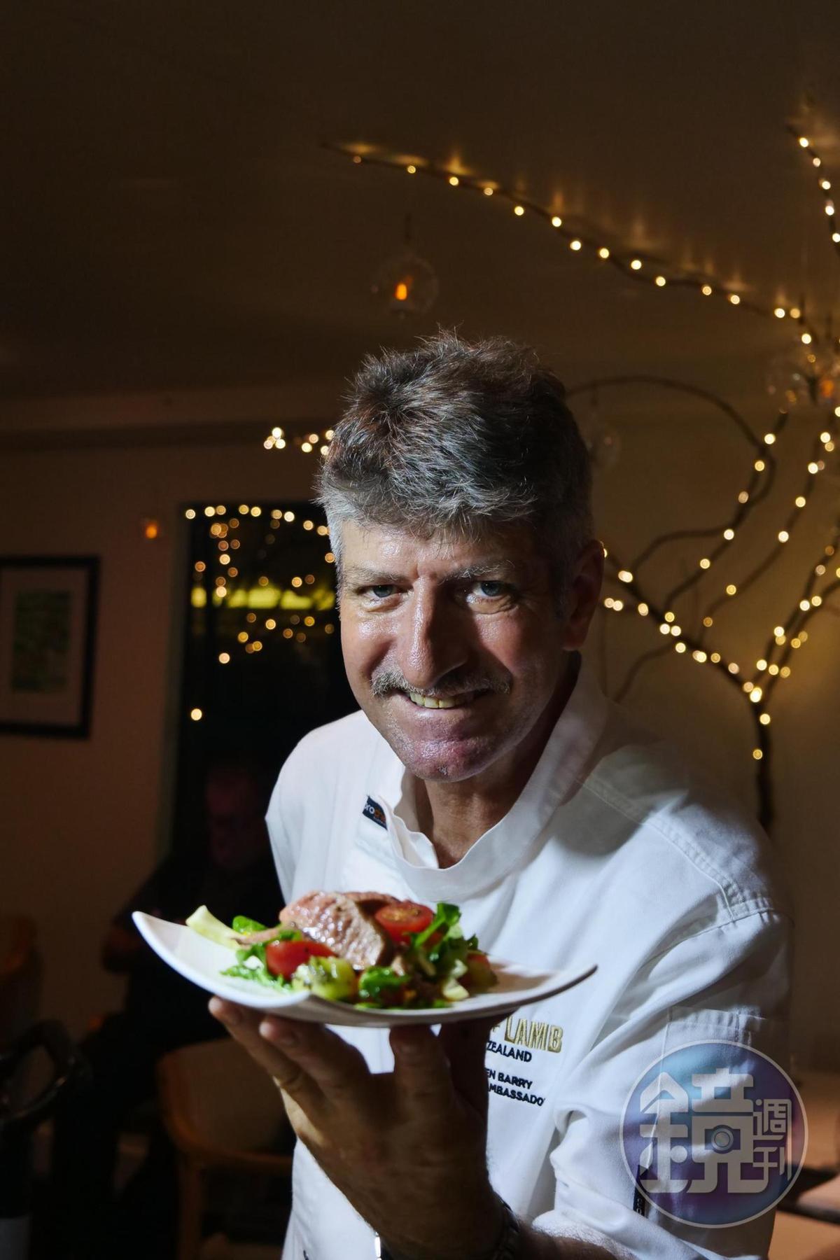 主廚Stephen Barry廚藝精湛,擅長創意料理。