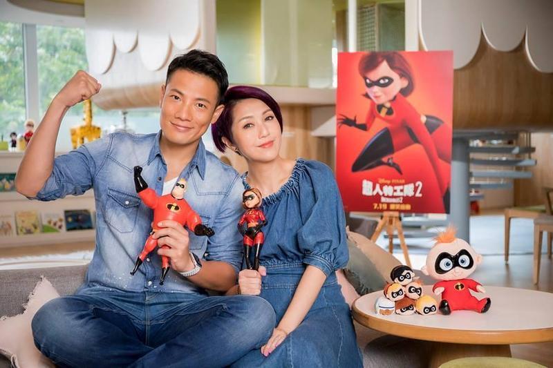 為了給兒子一個生日大驚喜,楊千嬅跟老公丁子高破天荒夫妻檔上陣為《超人特攻隊2》配音。(Disney Movies Hong Kong)