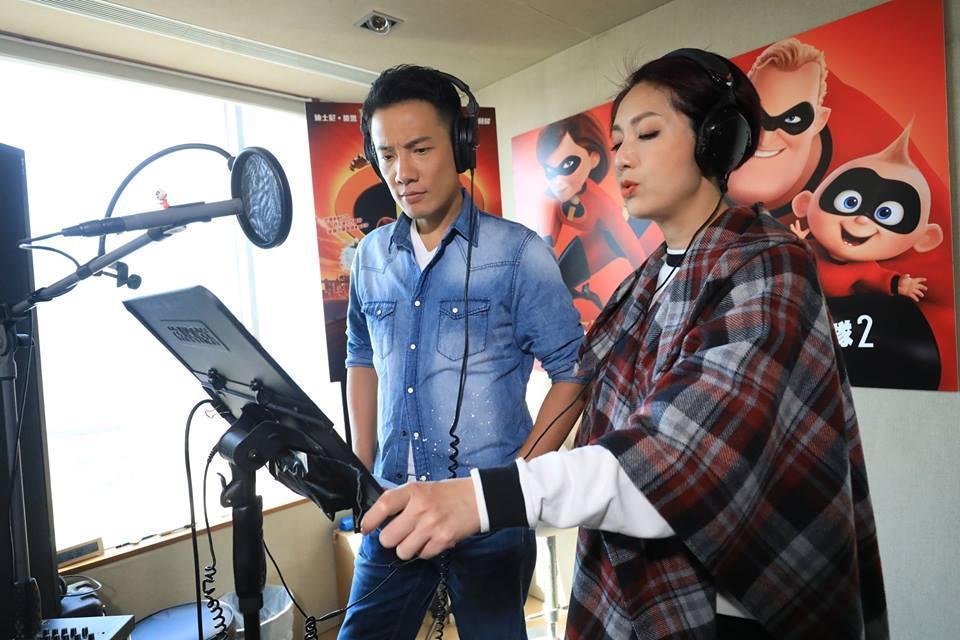 楊千嬅與老公丁子兩夫妻合作為《超人特攻隊2》配音,從故事到角色都很適合他們。(Disney Movies Hong Kong)