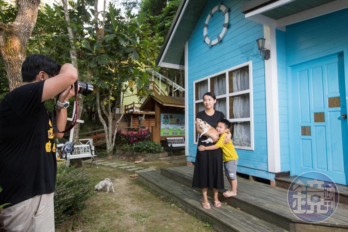 栗田庄歡迎愛狗人士,遊客帶寵物與家人前往度假。