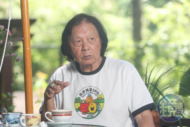 栗田庄每一棵植栽都是陳智夫一手包辦,如今已是滿園子綠意。