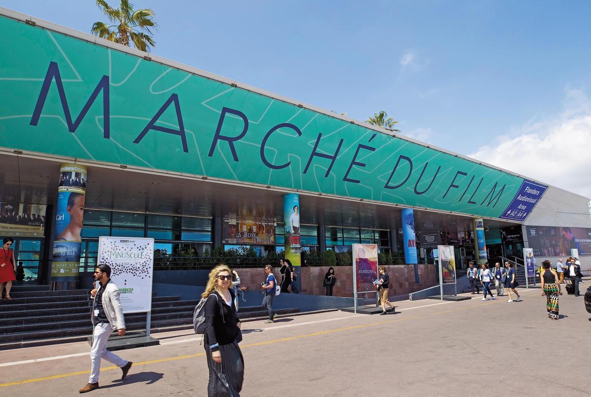 坎城市場展是全球規模最大、交易金額最高的電影版權交易平台。(東方IC)