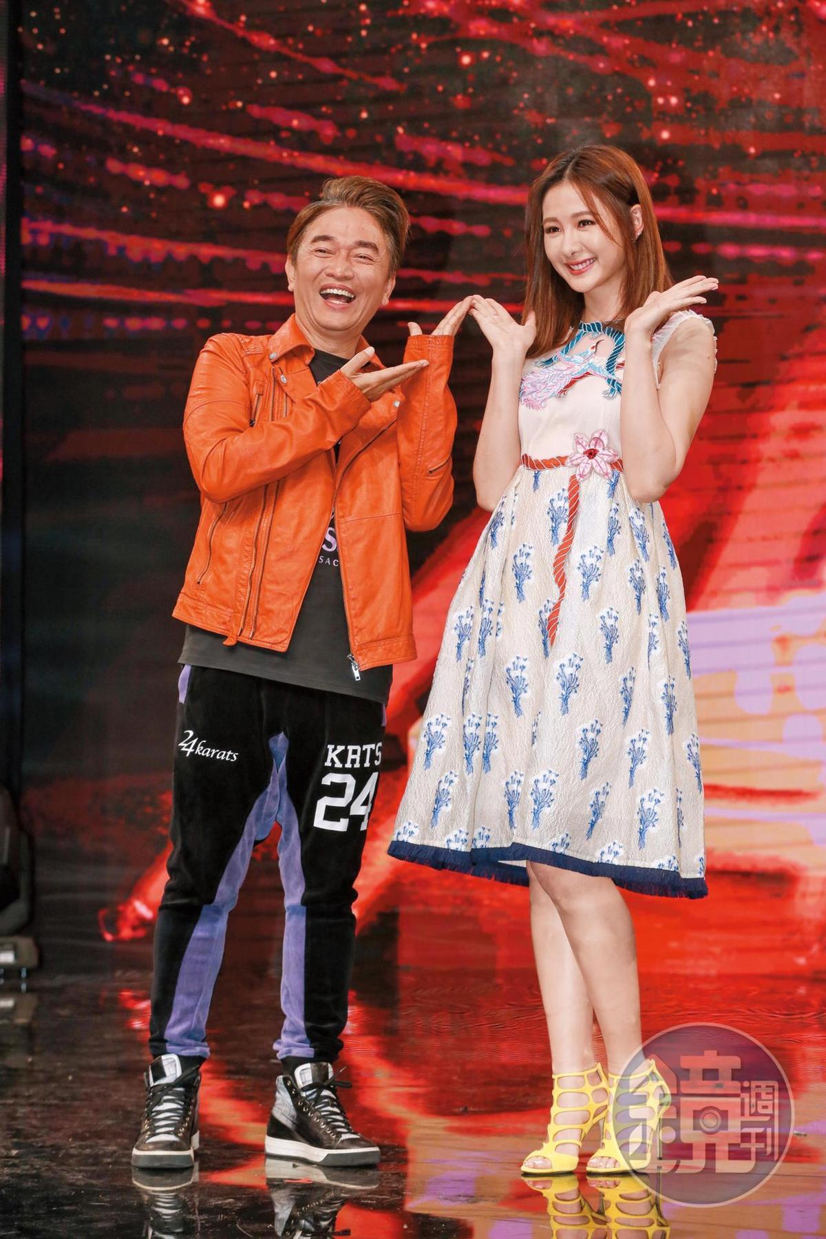 《我要當女一》祭出吳宗憲(左)、安心亞(右)搭檔主持,讓觀眾耳目一新。