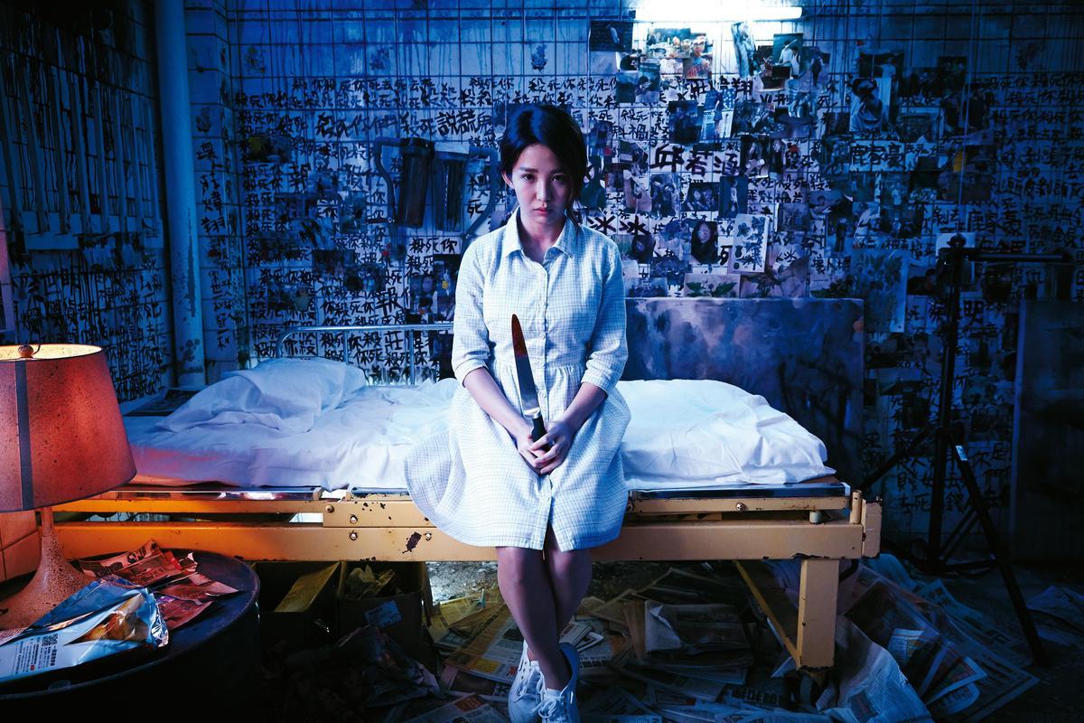驚悚網劇《劣人傳之詭計》獲得好口碑,今年將另拍驚悚電影《緝魔》。日前開記者會造勢,還現場展示劇中擬真的假屍體。(傳遞娛樂提供)