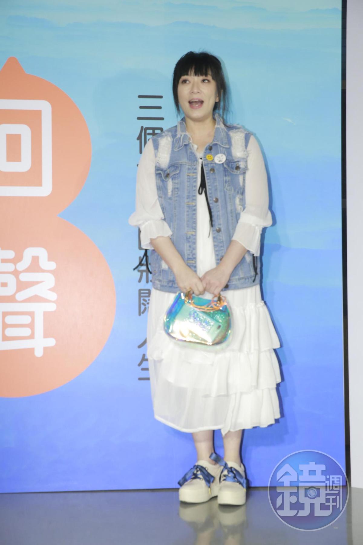 前來聆聽演唱會的趙詠華。