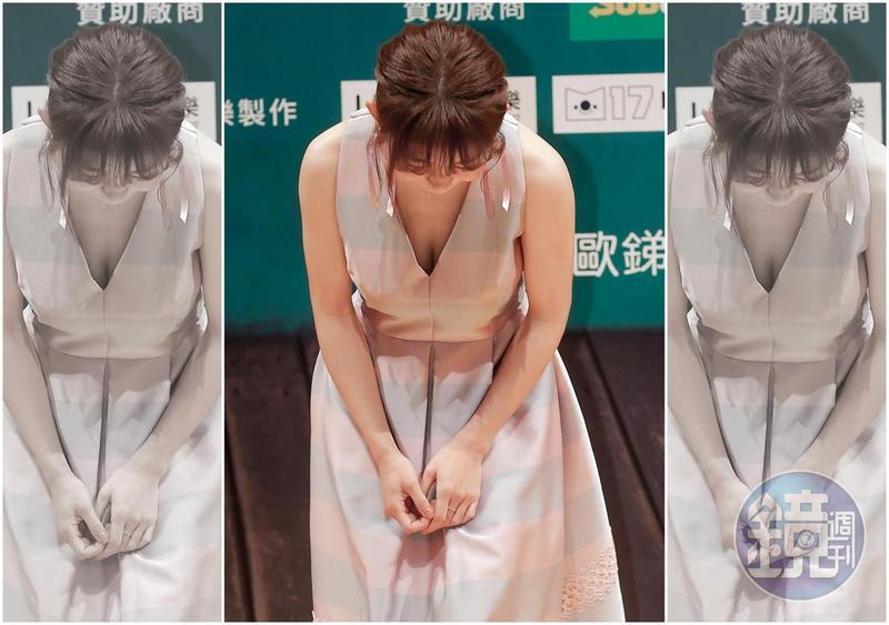 瑤瑤不惜臉不上鏡,用乳溝宣傳新作,相當具有敬業精神。