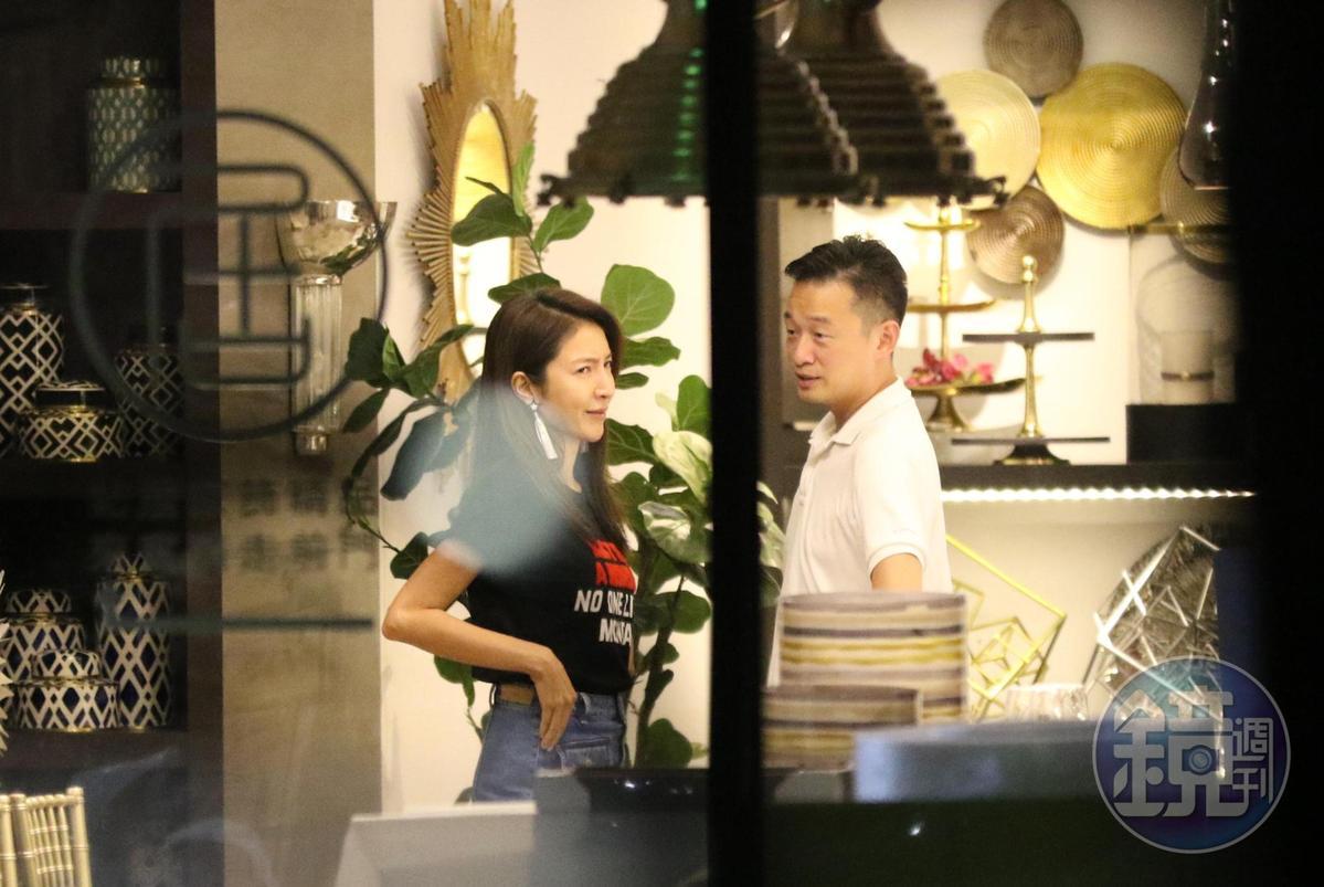 楊謹華與男友交往穩定,經常跟男友做鬼臉扮可愛撒嬌。