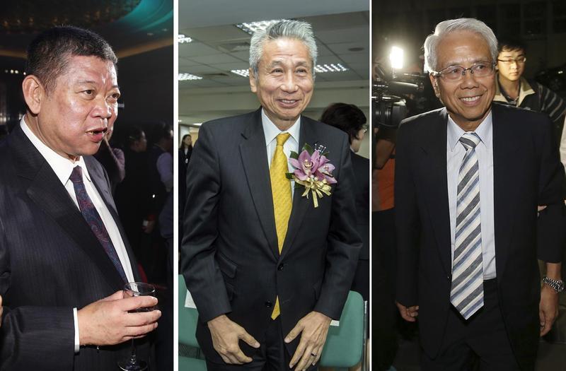 林堉璘是不動產業界教父級人物,無私提攜後進令商界懷念,左起祝文宇、王光祥、林陳海。
