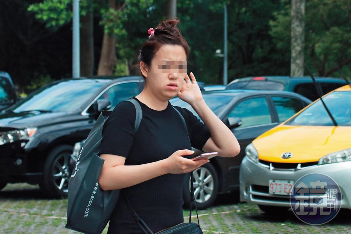 6月9日14:12,連勇智與何女到台大停好車後,各自下車。